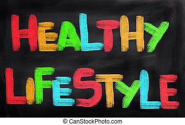 gesunder lebensstil, begriff