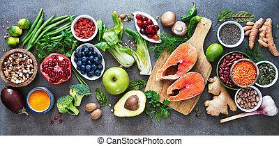 gesundes essen, auswahl