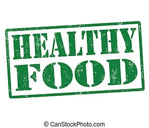gesundes essen, briefmarke