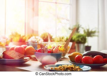 gesundes essen, hause