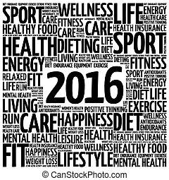gesundheit, 2016, wort, wolke