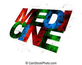 gesundheit, concept:, medizinprodukt, auf, digitaler hintergrund