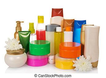 gesundheit, flaschen, produkte, schönheit sorge