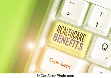 gesundheit, gebrauch, risiko, showcasing, finanziell, ruin., ohne, ausstellung, dienstleistungen, benefits., merkzettel, foto, schreibende, healthcare, geschaeftswelt