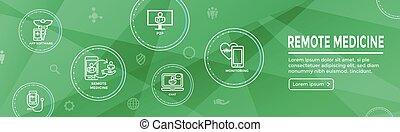gesundheit, heiligenbilder, idee, software, illustrieren, abstrakt, telemedicine, entfernt