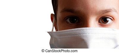 gesundheit, maske, kind