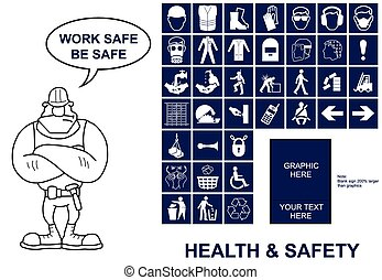 gesundheit sicherheit, zeichen & schilder