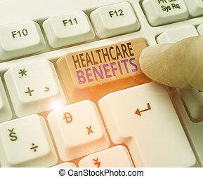 gesundheit, text, gebrauch, risiko, handschrift, finanziell, ruin., ohne, dienstleistungen, benefits., bedeutung, schreibende, healthcare, begriff
