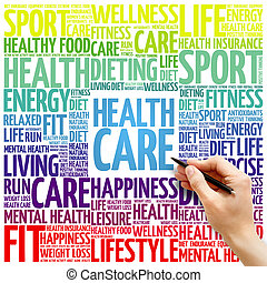 gesundheitspflege, wort, wolke