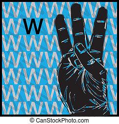 gesztikulál, cégtábla nyelv, kéz