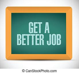 get a better job message illustration design