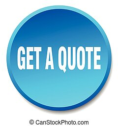 get a quote blue round flat isolated push button