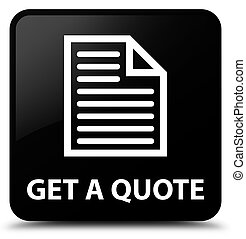Get a quote (page icon) black square button
