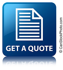 Get a quote (page icon) blue square button