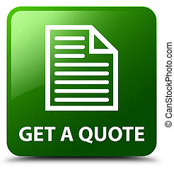 Get a quote (page icon) green square button