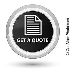 Get a quote (page icon) prime black round button