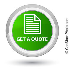 Get a quote (page icon) prime green round button