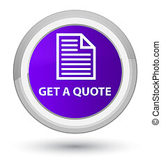 Get a quote (page icon) prime purple round button