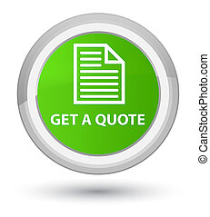 Get a quote (page icon) prime soft green round button