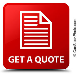 Get a quote (page icon) red square button