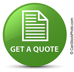 Get a quote (page icon) soft green round button