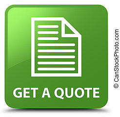 Get a quote (page icon) soft green square button
