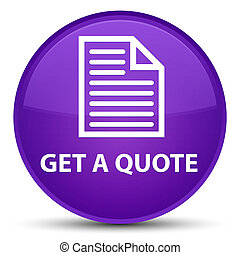 Get a quote (page icon) special purple round button