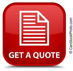 Get a quote (page icon) special red square button