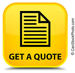 Get a quote (page icon) special yellow square button