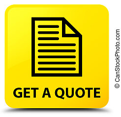 Get a quote (page icon) yellow square button