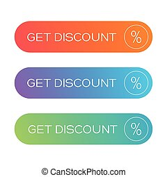 Get Discount button vector