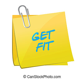 get fit message illustration design