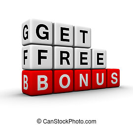 get free bonus symbol for sales promotion