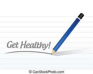 get healthy message illustration design