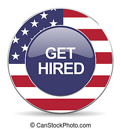 get hired american icon - web glossy icon