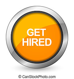 get hired orange icon