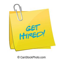get hired post illustration design