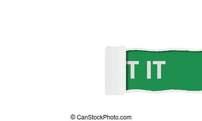 Get it sign shot clip