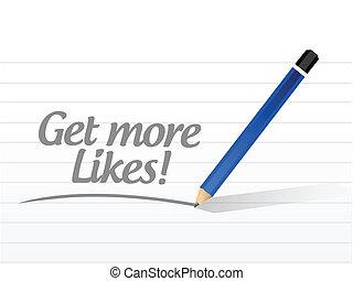 get more likes message illustration design