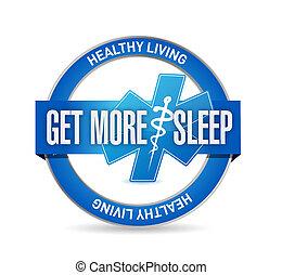 get more sleep healthy life seal illustration