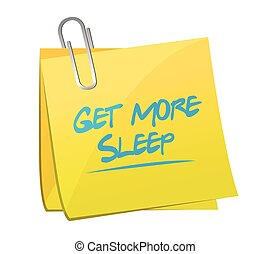 get more sleep post it illustration design