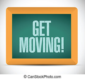 get moving message illustration design