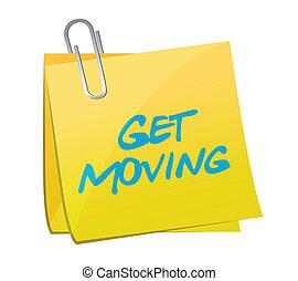 get moving post illustration design