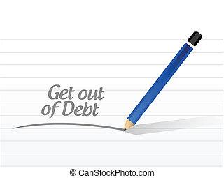 get out of debt message illustration design