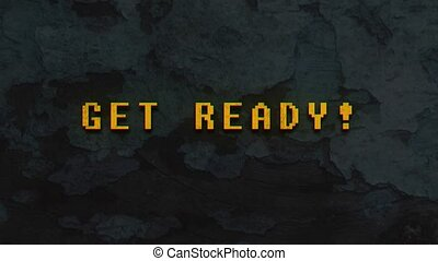 GET READY!- text animation - GET READY! - text animation...