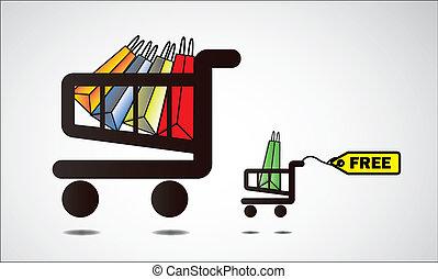 Get something free when shopping