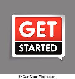 Get started label vector
