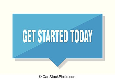 get started today blue square price tag