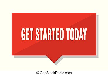 get started today red square price tag