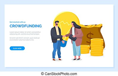 Get Started with Crowdfunding Website Page Vector - Get ...